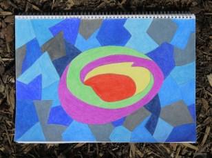 20150410-Black Ink & Pencil Crayon Abstract