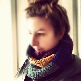Ms Rainbow Crochet Scarf: The Wearing Of