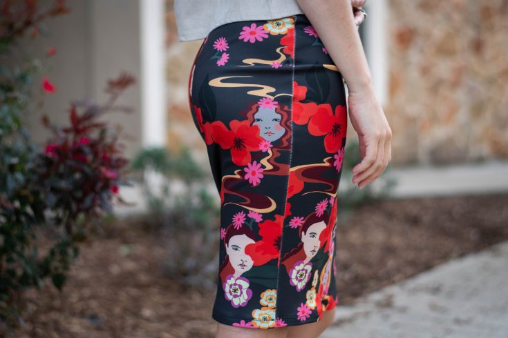 sewing a Lady McElroy Faces Pencil Skirt