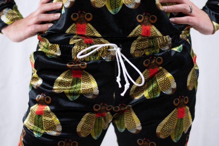 sewing matching velvet Hudson Pants and Linden Sweatshirt