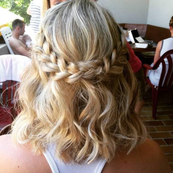 Romantic summer hairstyle braids waves hairstyle summerhair blonde pinsandpolish highlightshellip