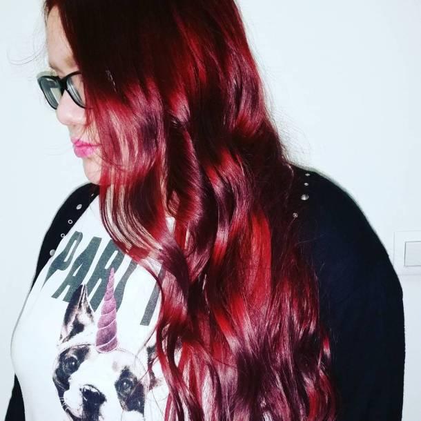 Beautiful rosered looks incredible with loose waves waves redhair longhairhellip