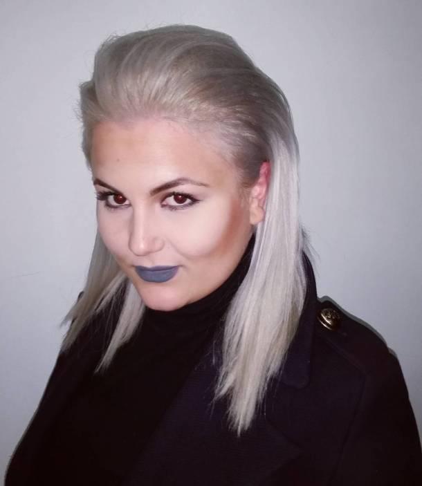 Beautiful platinum hair on martinamulovska greyhair platinumhair hairdresser grey whitehairhellip