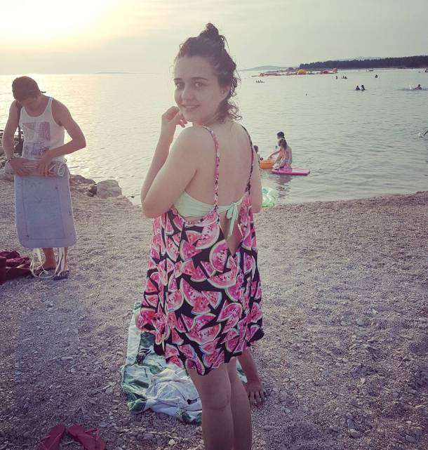 Sunset sunset beach povljana pag waterlemondress