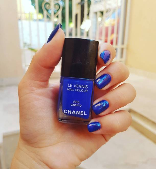 My one and only favorite vibrato by Chanel nailpolish bluehellip