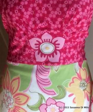 Applique flower detail on waistband