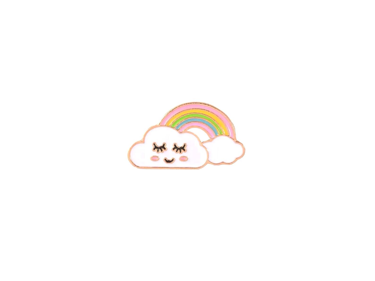 pin's nuage arc en ciel