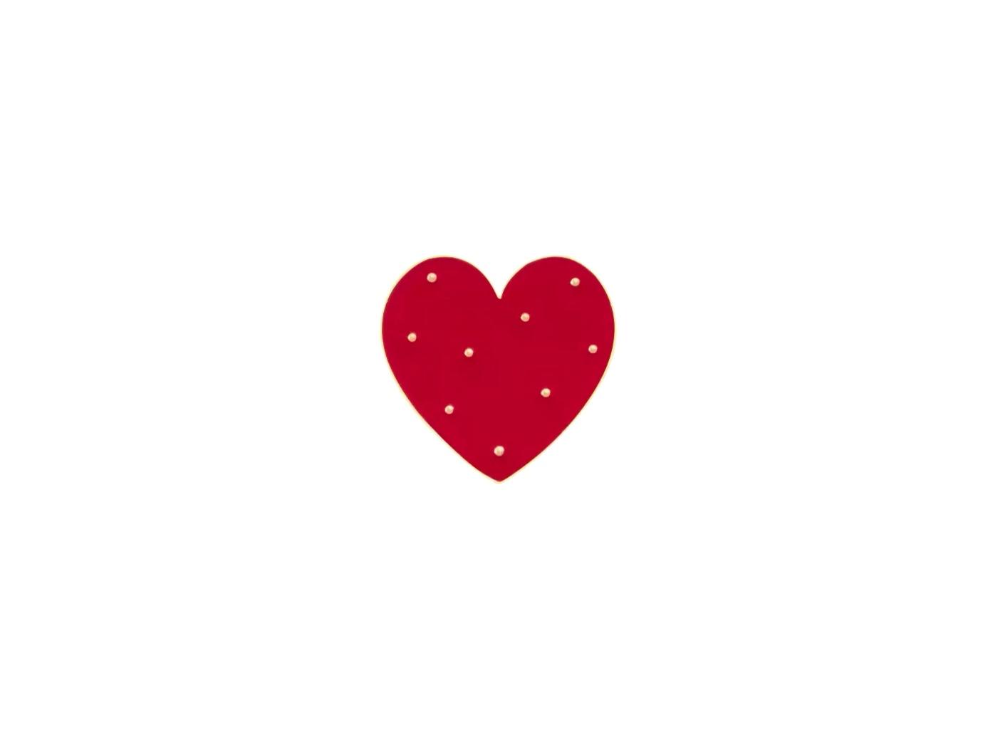 pin's coeur à pois