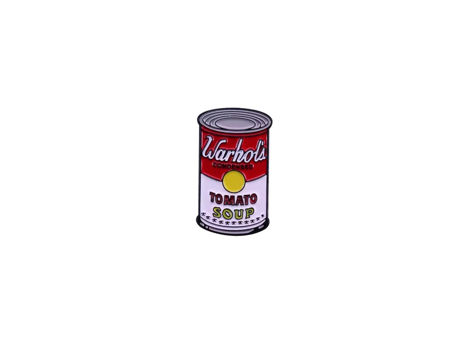 pin's warhol tomato soup