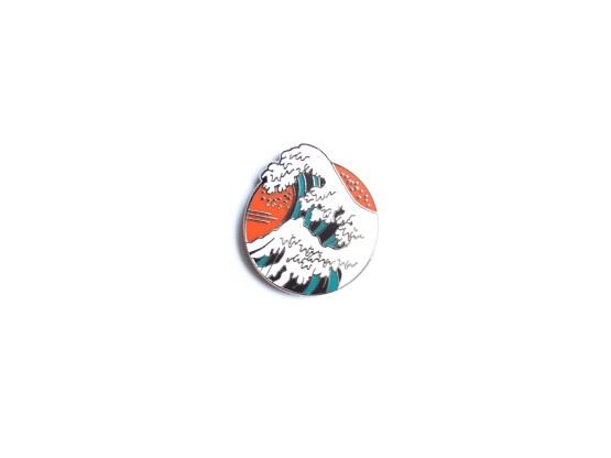 pin's hokusai rond