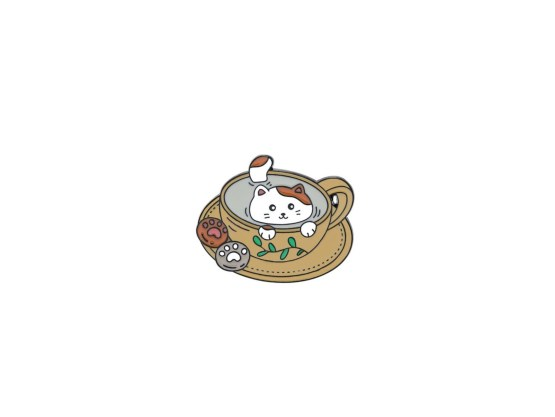 pin's chat tasse