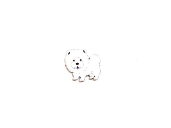 pin's chow chow blanc