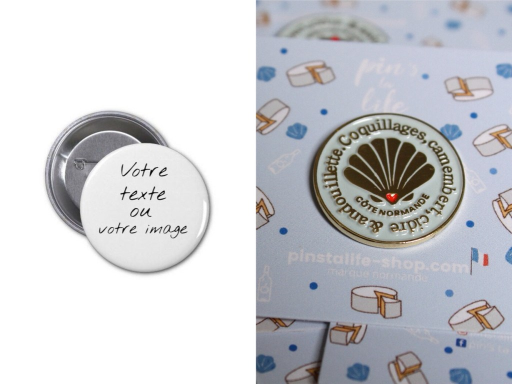 différence pin's et badges