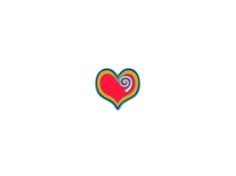 pin's coeur spirale