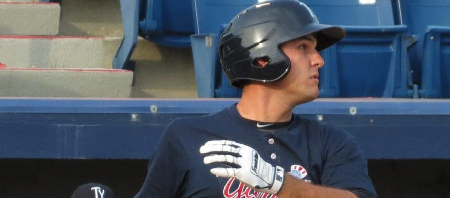Greg Bird with the Tampa Yankees in 2014 (Bryan Green)