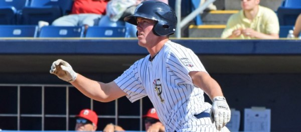 Chris Breen Hit a Solo Homerun to give the SI Yanks the victory (Robert M. Pimpsner)