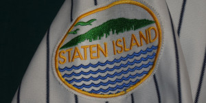 The Flag patch of Staten Island on a 1999 SI Yanks uniform.
