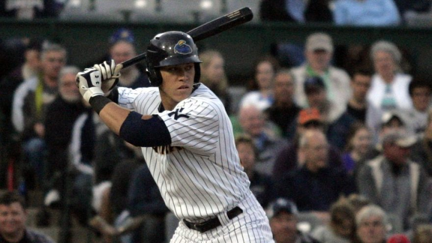 Aaron Judge is among the April players of the month. (Jessica Kovalcin)
