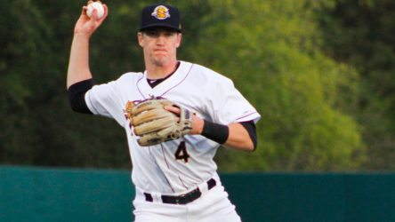 Kyle Holder with the RiverDogs (Jerry Coli)