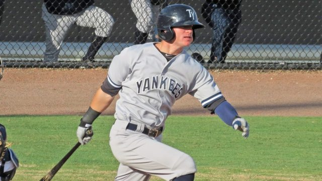 Ben Gamel with the Tampa Yankees in 2013 (Bryan Green)