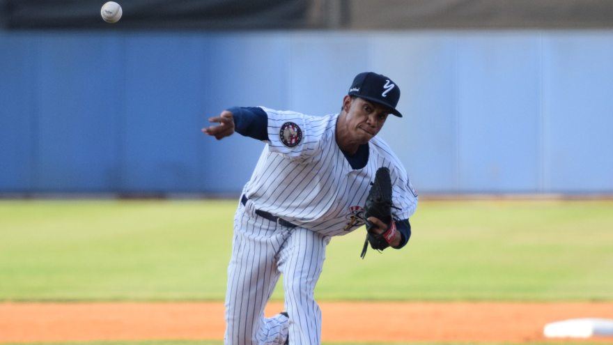 Adonis Rosa earned his first win of the season after throwing 84 pitches in the game. (Robert M. Pimpsner)