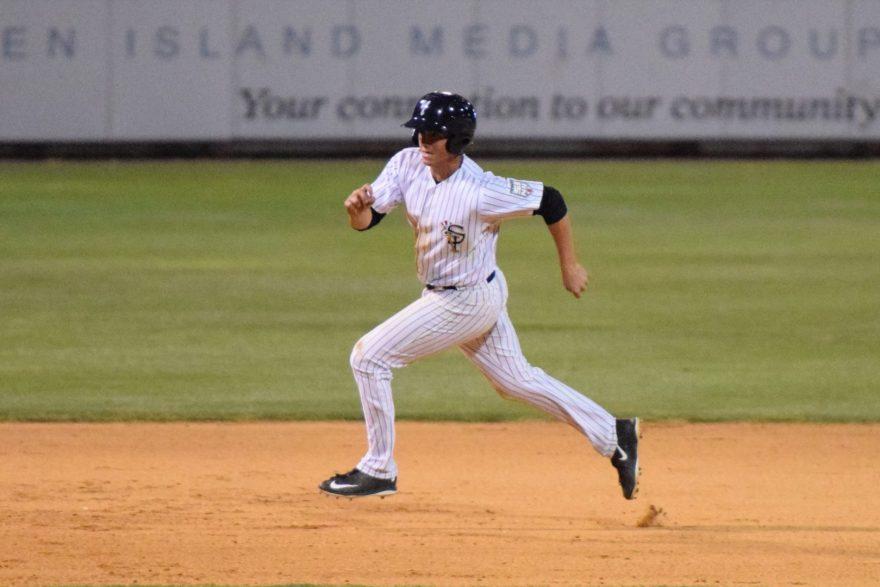 Mandy Alvarez  running to third base in the sixth inning. (Robert M. Pimpsner)