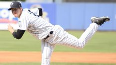 Yankees 2nd round pick Jeff Degano (Robert M Pimpsner)