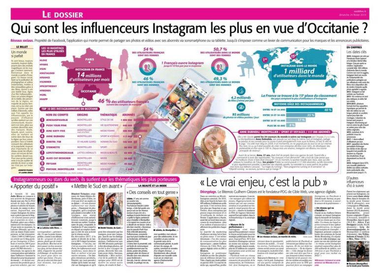 MIDI LIBRE // Qui sont les influenceurs Instagram les plus en vue d'Occitanie?