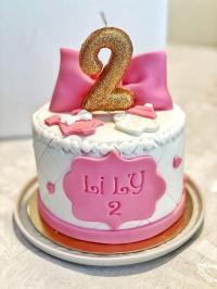 Gâteau 2 mois de Lily - Vanille ou Chocolat