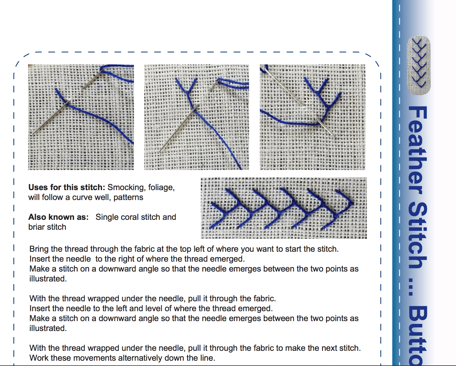 Stitchers Worksheet Module 4 Free Feather Running And