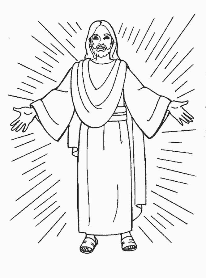 Jesus holding the world coloring pages | 900x666