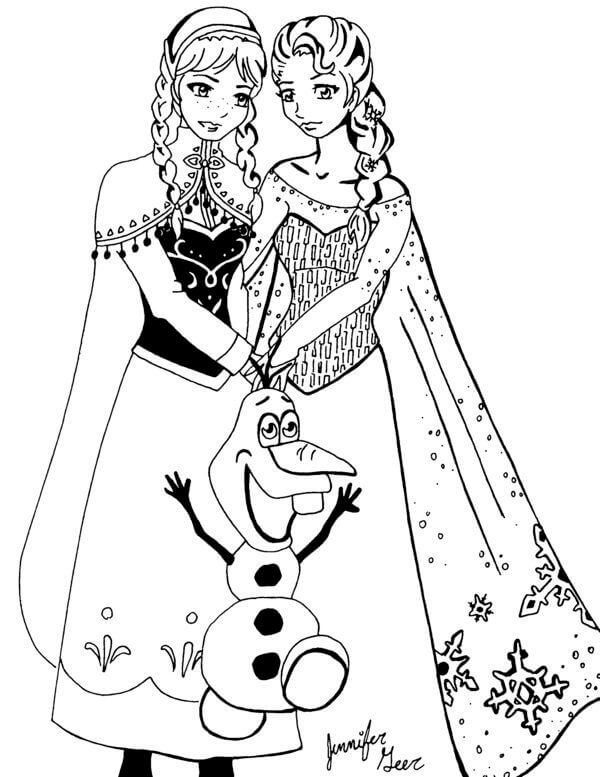 dibujo de la princesa anna de frozen para pintar