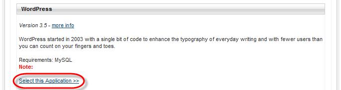Winhost App Installer WordPress Install Link