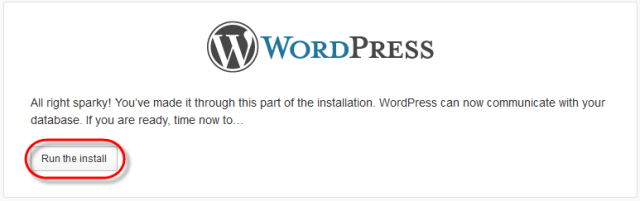 WodrPress Setup Config Run Install