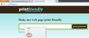 printfriendly paste address