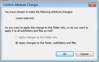 visual studio convert to 2012 project remove read only subfolders