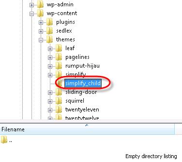 filezilla navigate to directory