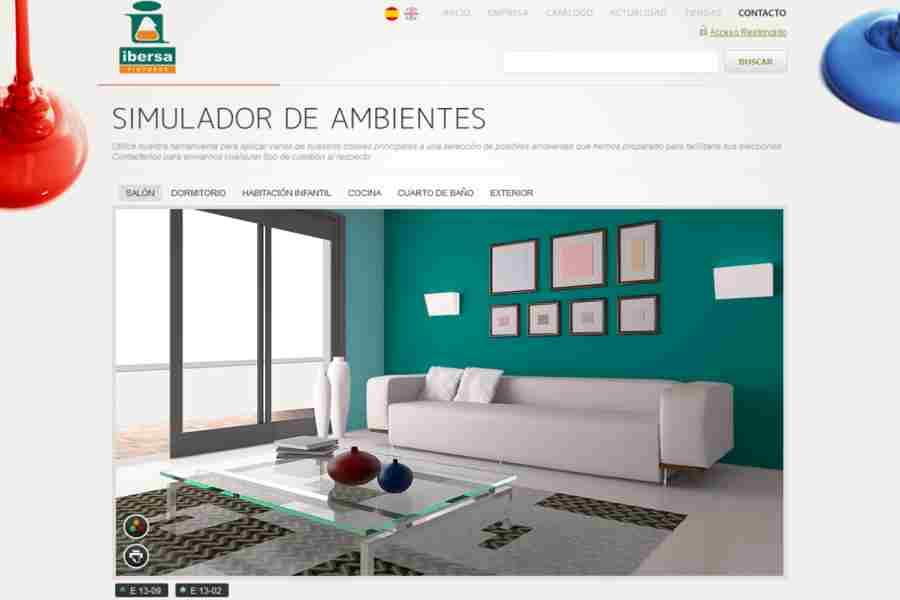 Simulador de pintura de pisos habitaciones paredes etc - Simulador pintura casa ...
