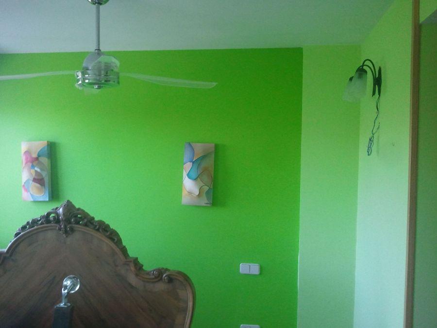 Dormitorio Verde oscuro y verde claro (1)