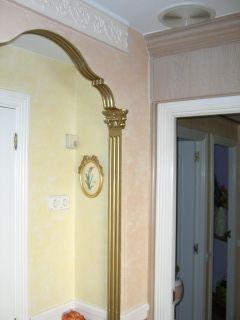 Estuco Venecian Rialto Amarillo con fondo blanco Salón
