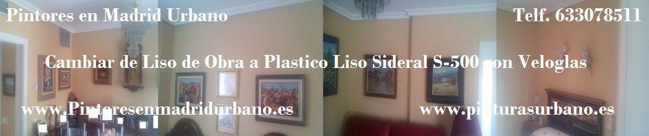 Banner Plastico Liso con Veloglas en Piso de Madrid