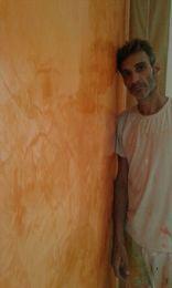 Estuco Veneciano Veteado Color Naranja (10)