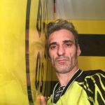 Estuco Veneciano Original a rayas amarillas y negras Borussia Dortmund (56)