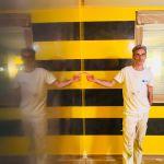 Estuco Veneciano Original a rayas amarillas y negras Borussia Dortmund (87)