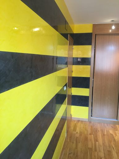 Estuco Veneciano Original a rayas amarillas y negras Borussia Dortmund - Terminado dia (5)