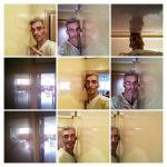 Reflejos sobre estuco veneciano original de 1995 color beige -COLLAGE