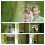 Estuco Marmoleado a 2 colores Verde claro y oscuro - COLLAGE