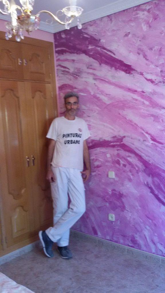 Estuco Marmol a 3 colores Violeta con cera (1)