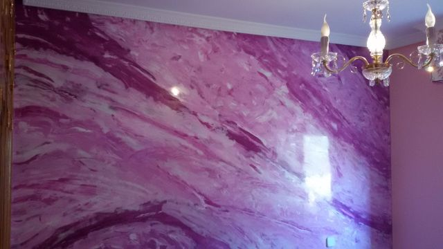 Estuco Marmol a 3 colores Violeta con cera (16)