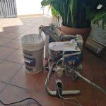 Proyectar agua sobre gotele temple (1)